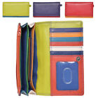 Ladies Premium Super Soft Leather Envelope Purse in Multi Colours - RFID Safe