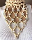 High End COURREGES PARIS BLINDING DIAMANTE DROP RUNWAY NECKLACE Jewelry Lot A
