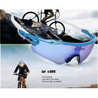 Men Women Cycling BIke Sunglasses UV400 Protection Glass +5Interchangeable Lens