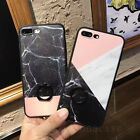 Fashion Granite Marble Patterns Ring Kickstand Case Cover for iPhone 6/6S/7 Plus