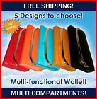 Special Offer Multi Fashion Wallet NEW Coin Zip ID holder mint orange pink