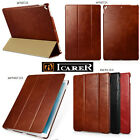 ICARER Retro 100% Genuine Real Leather Case Smart Cover For iPad Air2 Pro Mini4