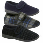 Mens Extra Wide Opening EEE Fit Diabetic Orthopaedic House Hard Sole Slippers