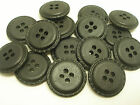 New lot 12 Faux Leather Black Buttons 1inch 7/8, 3/4 5/8 & Blazer coat sets FB