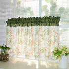 Village green rose flower lace cotton block Home Kitchen window Cafe Curtain