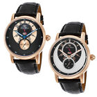 Lucien Piccard Santorini Dual Time Gold Mens Watch - Choose color