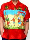 Mens  Red santa on vacation Christmas gift Hawaiian Shirt s m l xl xxl xxxl