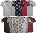 Mens Hawaiian Fashion Floral T- Shirt Short Sleeve Casual Cotton Summer Top