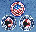 1SERVICE DOG ACCESS REQUIRED BY LAW PATCH 3 IN Danny & LuAnns Embroidery