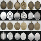 10pcs 40x30mm Antique Silver/Bronze Tray Cameo Cabochon Setting Base Pendants