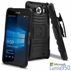 For Microsoft Lumia 950 Ultra Rugged Kickstand Belt Clip Holster Case Cover