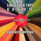 "LINED Crochet Tutu Top, Tube Top, 6"", 8"", 9"", 10"" 12"" USA SELLER, Fast shipping"