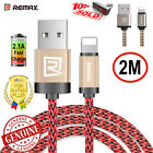REMAX iphone lightning braided cable 2m genuine metal plug