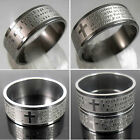 1 x men's English Words the serenity&Lord's prayer stainless steel etching Ring