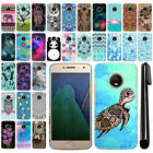 "For Motorola Moto G5 Plus 5.2"" PATTERN HARD Protector Back Case Phone Cover +Pen"