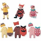 Baby Toddler Boy Girl Fancy Dress Party Costume Romper Outfit+Hat Set 00 0 1 2