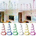 6/12/24pcs BABY SHOWER BIRTHDAY WEDDING PARTY SUPPLIES HANGING SWIRL DECORATIONS