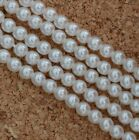 Glass Pearl Round White 2 3 4 6 8 10 12 mm Bright White 70400 Czech Beads