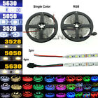 EL 5M 10M SMD 3528 5050 5630 300LEDs RGB White LED Strip Light 12V Power Adapter