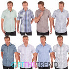 Mens Short Sleeve Check Shirt Men's Designer Checked Collar Summer Casual Shirts