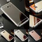 Shockproof Luxury Mirror Soft Flexible Case Cover For Samsung Galaxy Note 5 4 3
