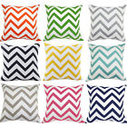 Colorful Stripe Wavy Home Square Cushion Throw Pillow Case Cover Shell