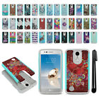 For LG Aristo MS210 LV3 K8/ Fortune Hybrid Bumper Shock Proof Case Cover + Pen