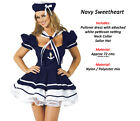 Classic Ladies Navy Blue White Sailor Fancy Dress Costume Party Outfit Nautical