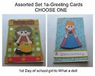 """""""ASSORTED - SET 1a""""- 5x7 Greeting Card Pop Dotted For 3d Effect- Choose One"""