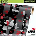 LARGE DIGITAL URBAN RED Camouflage Vinyl Car Wrap Camo Film Sheet Roll Adhesive