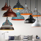 LOFT Lighting Industrial Barn Hanging Pendant Light With Metal Dome Shade