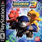 Digimon World 3 (Sony PlayStation 1, 2002) *Rare* *Black Label*