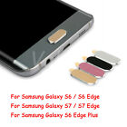 1x 2x Lot Home-Key Metal Protective Sticker Case For Samsung Galaxy S6 S7 Edge