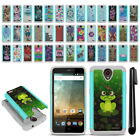 For ZTE Prestige N9132/ Avid Trio Hybrid Bumper Shockproof Case Cover + Pen