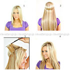 Invisible 100% Remy Human Hair Extension Wire Headband Extensions Thick 16''-30""