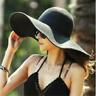 Kyпить USA Women's  Summer Large Floppy Folding Wide Brim Cap Sun Straw Beach Hat  на еВаy.соm