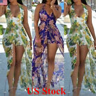 Women Floral Halter Summer Dress Beach Boho Party Evening Maxi Long Sundress