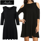 AMZ Plus Size XL-5XL Women's Off Shoulder Modal Baggy T-Shirt Tops Blouse Dress