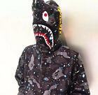 BAPE MENS A BATHING APE SPACE CAMO SHARK HOODIE FULL ZIP Sweater COAT Hot
