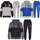 New Boys Kids Childrens DL Funk Sports Full Top Bottom Jogging Hooded Tracksuits