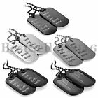 Fashion Mens 2pcs Dog Tag Pendant Stainless Steel Necklace Chain Jewelry Gift