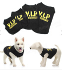 SWIM VIP Pet Vest Dog Puppy T Shirt Very Important Pup Black Clothing Waistcoat