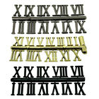 New Self Adhesive Black Silver Gold Plastic Clock Roman Numerals - Clock Making