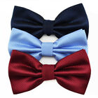 Free Shipping Mens solid Plaids Bows Bowtie Wedding Party Adjustable Bow tie