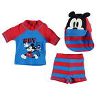DISNEY MICKEY MOUSE 3 PIECE SWIMMING SET BABY BOYS AGES 0-24 MONTHS