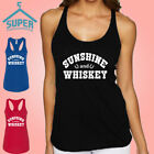 Sunshine And Whiskey Women's TANK TOP WHITE LOGO Country Girl Music Southern Tee