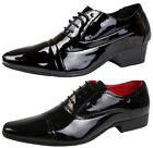 Mens Patent Lace Up Loafers Smart Formal Oxford Brogues Office Wedding Shoes