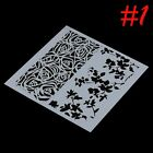 Craft Baking Tool Cake Decor Fondant Layering Stencil Template Duster Spray