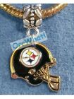 Pittsburgh Steelers Football Charms For Bracelets Slide On Clip On OR Belly Ring on eBay