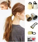METAL PONYTAIL HOLDER CONE HAIR BANDS CUFF WRAP GOTHIC PUNK ELASTIC DANCE BELLE